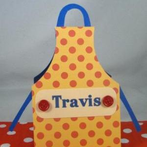 Apron Style Personalized Placecards..