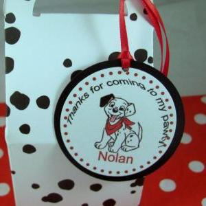 Dalmatian Spotted Favor Boxes with ..