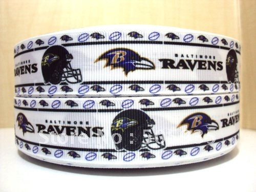 Baltimore Ravens 1' Grosgrain Ribbon