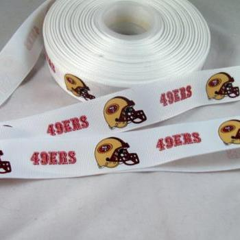 San Francisco 49's Ribbon- 1 yard 7/8