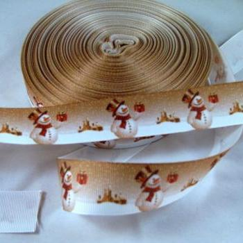 Snowman Ribbon 1 Yard 7/8