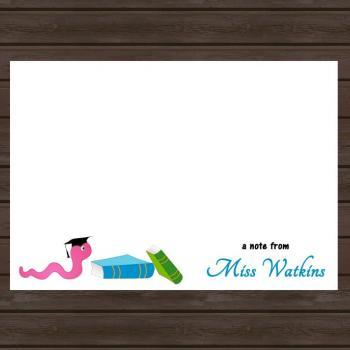 Personalized Note Card for Teacher/ Teacher Gift/ Set of 8